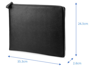 HP Elite 13.3インチ Black leather sleeve
