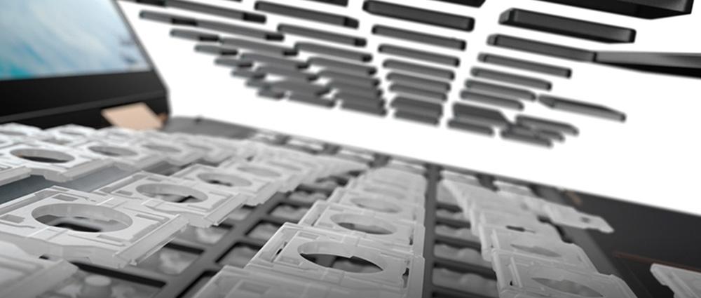 再生可能な素材で作られたキーボード構造